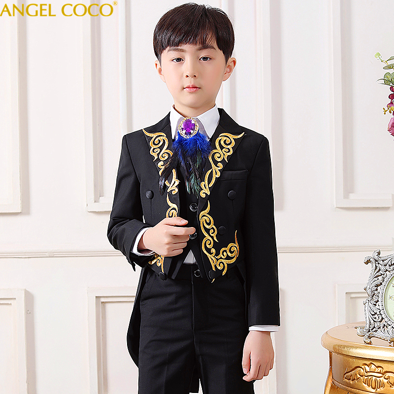 Elegant Boy Formal Suit/Boys Tuxedo Suits/Boy Blazers/Gentlemen Boys Suits For Weddings (Jacket+Pants+Tie+Vest+Shirt) 4 14TElegant Boy Formal Suit/Boys Tuxedo Suits/Boy Blazers/Gentlemen Boys Suits For Weddings (Jacket+Pants+Tie+Vest+Shirt) 4 14T
