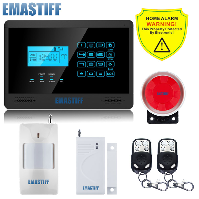 DHL Free Shipping!family Guard Android IOS APP M2E Wireless GSM SMS Text Home Security Alarm System, 4 Bands, Touch Screen