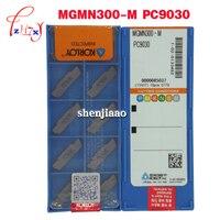 10 pçs/lote MGMN300-M PC9030 cimentado pastilhas de metal duro CNC lâmina de metal cerâmica ferramentas de torno CNC
