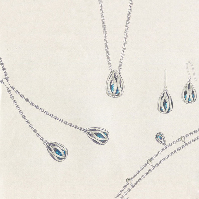 SA SILVERAGE 925 Sterling Silver Long Necklaces Pendant  for Women Fine Jewelry Teardrop Sweater Chain 2017 New Arrival