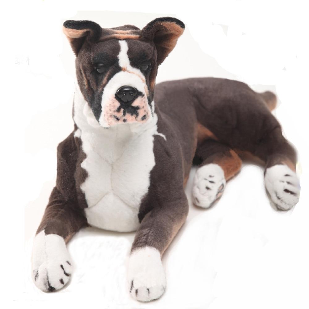 Fancytrader Pop Anime German Boxer Pluhs Toy Big Stuffed Emulational Animals Dogs Doll Home Decoration Props 80cm 31inch fancytrader pop anime japan big fat