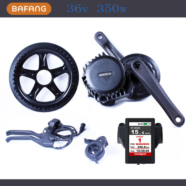 Cheap 36v 350w 8fun/bafang Motor BBS01 Latest Controller Crank Motor Eletric Bicycles Trike Ebike Kits New Display