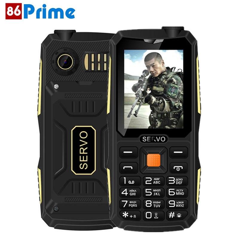 Цена за Оригинал servo v3 quad sim мобильный телефон пыле ударопрочный 2.4 дюймов телефон 4 сим карты gprs русский язык клавиатуры