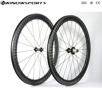 12K Twill weave Road bike wheels 50mm 23mm width clincher wheel 700c matte finish chinese carbon road bicycle wheelset AERO spok