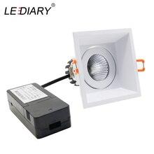 LEDIARY LED COB Downlights White Ceiling Recessed Spot Lamp 90mm Cut Hole 85-265V 5W/10W/15W 3000K/4000K/6000K Lighting Fixtures
