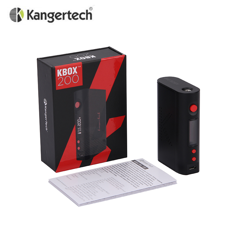 Original Kanger KBOX 200W Mod Temperature Control Variable Wattage Box Mod suit for 18650 Battery KBOX 200W in stock стоимость