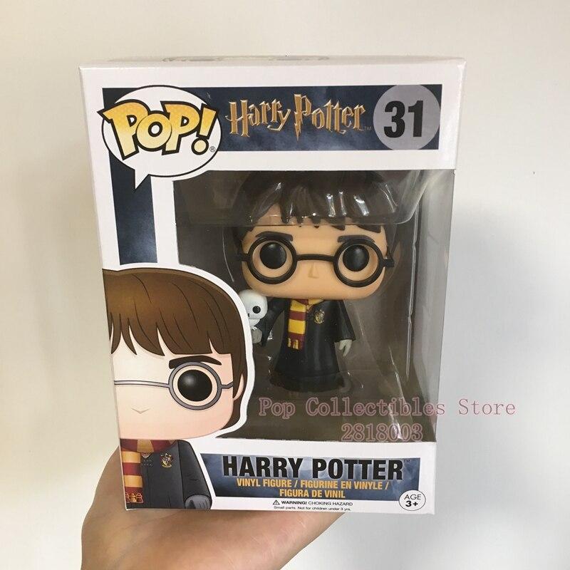 Sujet chaud exclusif Funko pop officiel Harry Potter-Harry Potter avec perruque de Hedwig figurine en vinyle jouet de collection