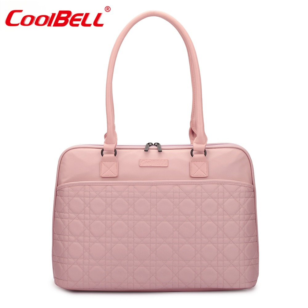 CoolBell Hot Sale 15.6 Inch Laptop Tote Bag Women Handbag Nylon Briefcase Classic Shoulder Bag For Laptop / Macbook / Tablet