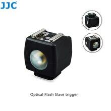 JJC Flaş Köle Tetik Kablosuz Uzaktan Kumanda Speedlight için Sıcak Ayakkabı Canon/Nikon/Olympus/Fujifilm/SONY/Maxxum flaş