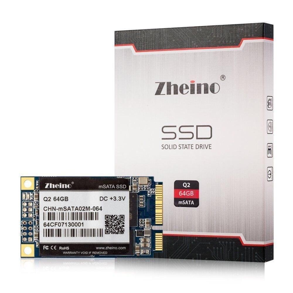 Zheino Q2 mSATA 64GB SSD SATA3 Solid State Drive For Intel Samsung Gigabyte Thinkpad Lenovo Acer HP Laptop Mini PC Tablet PC zheino q1 msata sata iii 6gb s ssd 60gb ssd solid state drive mlc flash storage devices disk for desktoo laptop