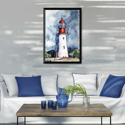 painting by numbers art paint by number Lighthouse Knife Dog Digital Numbers Oil Paintings Self Stained Area Children Room Bedro
