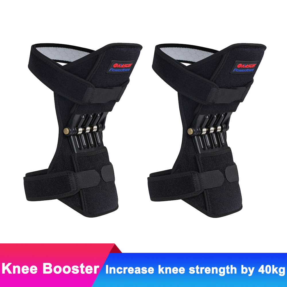 2pcs Breathable Non-slip Knee Booster Joint Knee Support Brace Kneepad Sports Climbing T ...