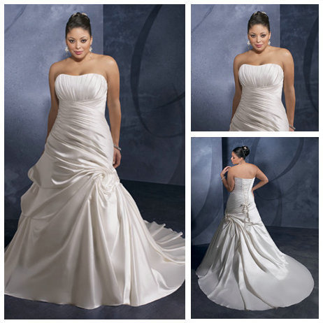 US $238.99 |Ivory Satin Wholesale and Retail Best Sale Western Wedding  Dresses Plus Size-in Wedding Dresses from Weddings & Events on  Aliexpress.com | ...