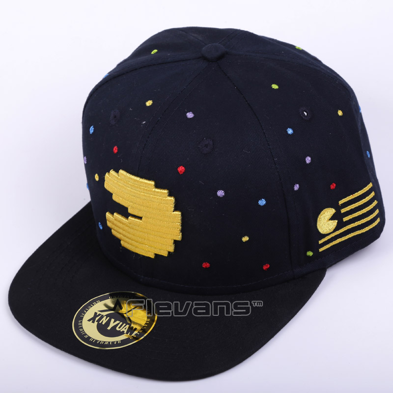Pac-Man Fashion Adule Snapback Summer Embroidery Style Pacman Sun Hat Unisex   Baseball     Caps   Free Size