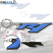 For Yamaha YZF R1 Blue 3D Soft Rubber Accessories Motorcycle Keychain Motorbike Key Ring Moto chain keyring