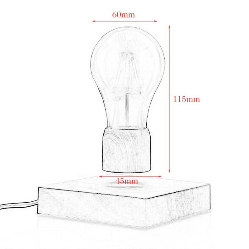 BOCHSBC Creative Design Magnetic Levitatin Table Lamp Wooden Base Desk Lights Lampara for Bedroom Dinning Room Study Unique Gift in LED Table Lamps from Lights Lighting