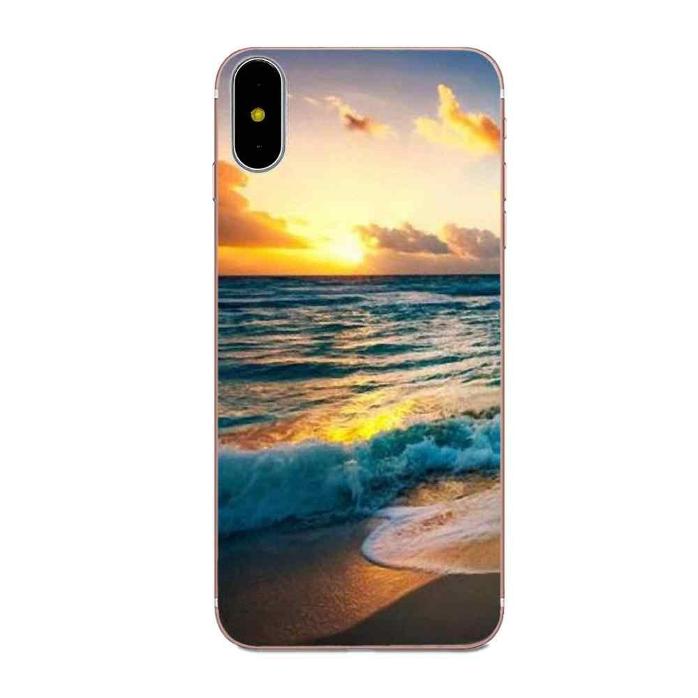 Dành cho Huawei Honor Giao Phối Nova 2 6A 7A 7C 8C 8 S 10 10i Y5 Y9 Lite P Thông Minh GR5 2019 Mềm Mại Thời Trang Ốp Lưng Điện Thoại Mặt Trời Lặn Và Riase