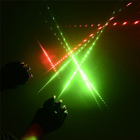 Cool Party Supplies Red Green Laser Luminous Gloves Dancing Stage With 4 Pcs Lasers And LED