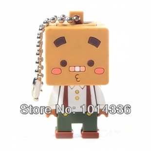 Creative Cartoon MR. BOX usb flash drive Cute MR. BOX USB Flash Drive 1G 4G8G 16G 32G Memory Drive Stick Pen S6 AA#20