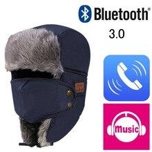EDAL Bluetooth 3.0 Headphone Hat Unisex Thicken Warm Faux Fur Winter Beanie Hat Wireless Headset Smart Cap Outdoor Soft Cap