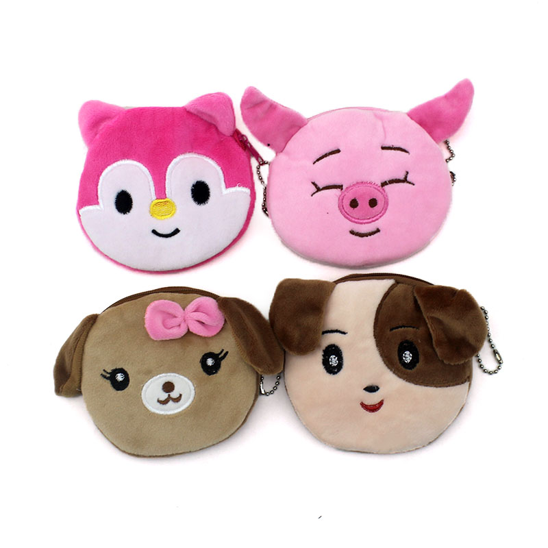 Cartoon Children Coin Purse Cute Koala/Squirrel Animal Coin Wallet Women Card Holder Ladies Mini Fabric Zipper Handbag For Gift 2017new coin purses wallet ladies 3d printing cats dogs animal big face fashion cute small zipper bag for women mini coin purse
