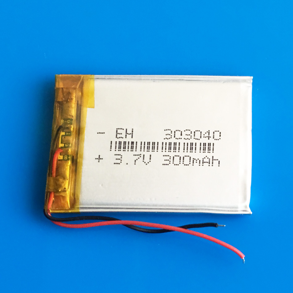 303040 033040 3.7V 300mAh lithium polymer lipo li ion rechargeable battery for MP3 MP4 GPS bluetooth headset camera recorder