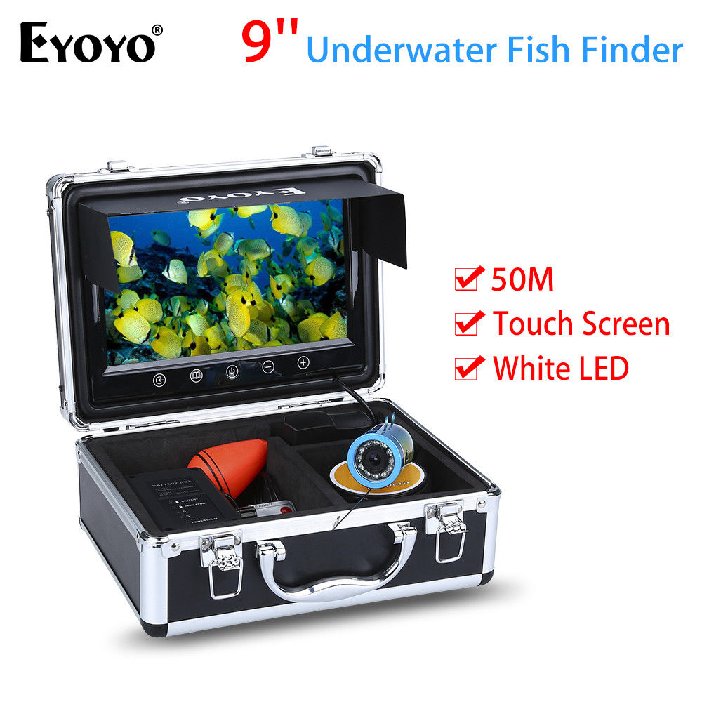 EYOYO 9inch 50M Touch Screen White LED Adjustment Ocean Sea River Lake Boat Fishing Came ...