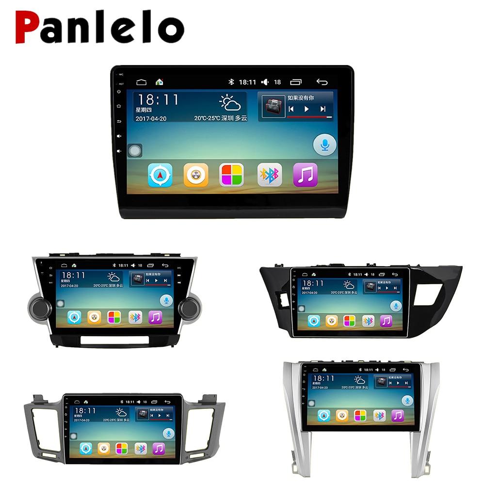 Panlelo для Toyota RAV4 автомобильный радиоприемник мультимедиа 10,2/10/9 дюймов Авторадио для Toyota Camry 2din видео плеер навигации gps Android
