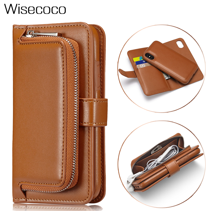 Wallet Flip Cases For <font><b>iphone</b></font> X 6 6s 7 <font><b>8</b></font> Plus 64gb <font><b>256gb</b></font> Luxury Leather Protection Cover Coque Capinha For iphone6s iphone7 Etui image
