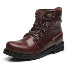 Centenary  Genuine Leather winter boots men Western shoes Rubber chelsea