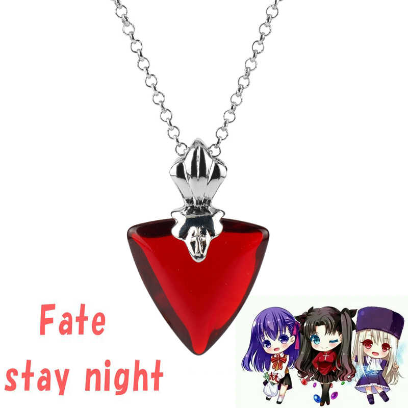 HEYu Fate Stay Night Necklace Tohsaka Rin Cosplay Pendants Necklaces Women Gift Accessories