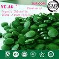 250g 100% Orgánica Chlorella Pyrenoidosa Chlorella Vulgaris Tablet 250 mg x 1000 unids Roto Alta Calidad Rica de Clorofila, proteína