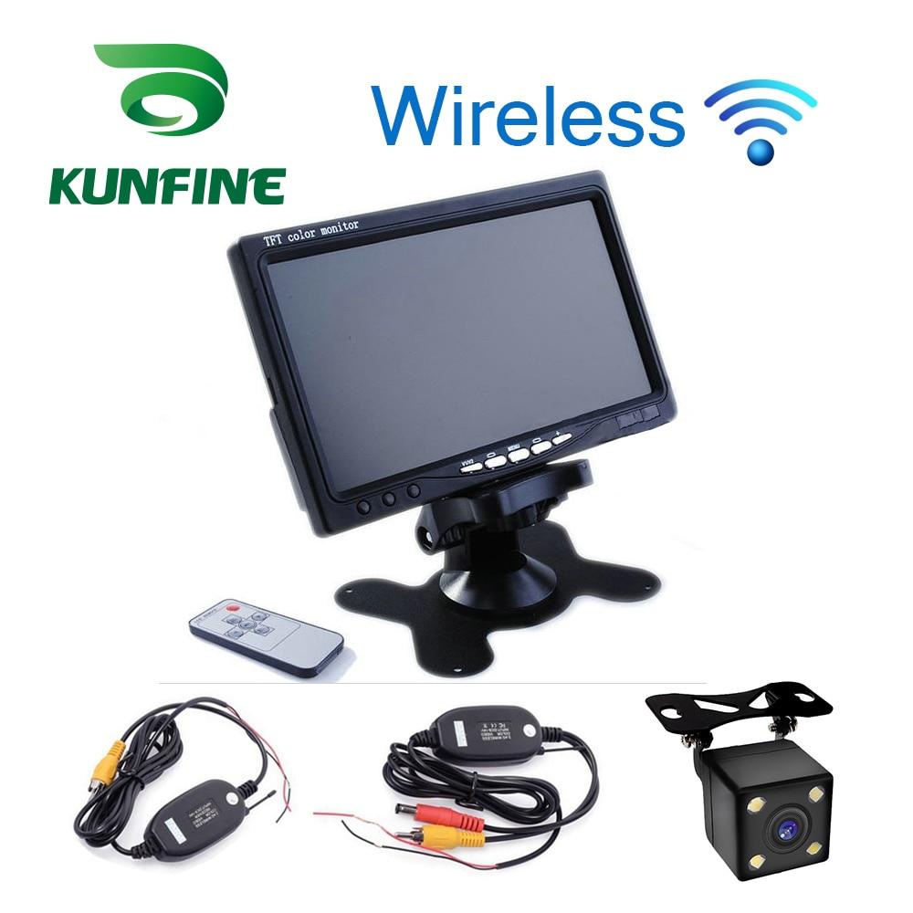 2019 Neuestes Design Kunfine Drahtlose 7 Zoll Tft Lcd Auto Kopfstütze Display Monitor Rückansicht Display Für Rückseiten-unterstützung Kamera Auto Tv Display Attraktives Aussehen