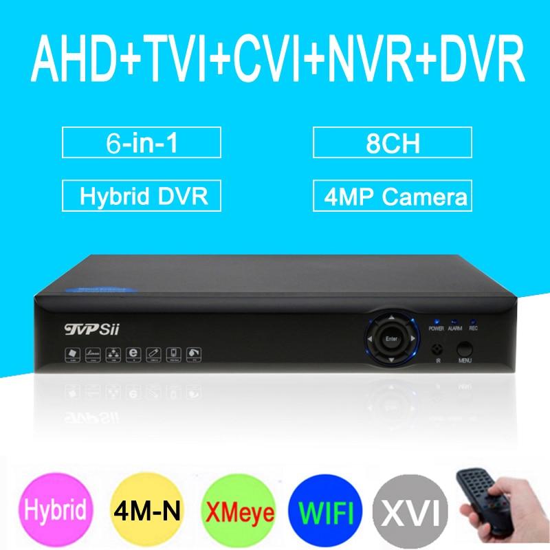 4mp CCTV Camera Blue-Ray XMeye Hi3520D 4M-N 8CH 8 Channel Coaxial Hybrid WIfi 6 in 1 XVI NVR CVI TVI AHD DVR Free Shipping free shipping 10pcs aod484 d484 n channel fet
