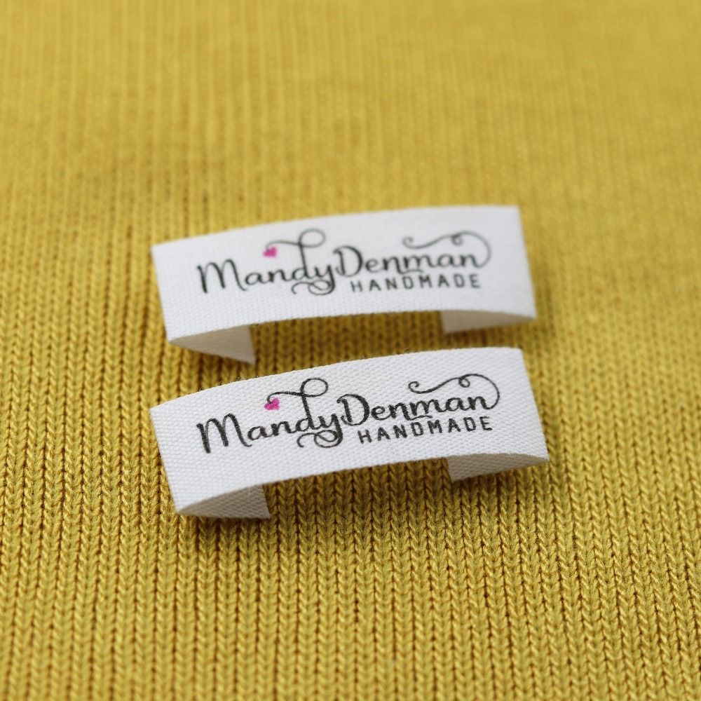 Custom Sewing Label, Handmade Tags, Custom Kids Name Labels,Cotton Ribbon Labels, Logo Labels(MD007)
