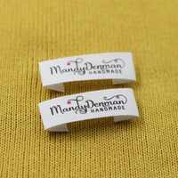 Custom Sewing label, Handmade Tags, Custom kids Name Labels,Cotton Ribbon labels, Logo Labels(MD007)