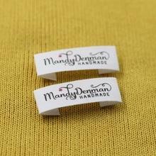 Пользовательские швейные этикетки, жетоны ручной работы, пользовательские детские бирки с именами, хлопковые Ленточные этикетки, лейбл с логотипом (MD007)