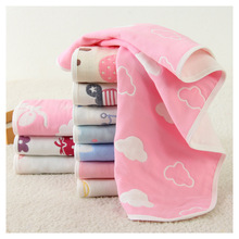 Cotton Gauze towel 6 six-layer cotton gauze Face Soft Does not irritate the skin 34*75cm Children adult