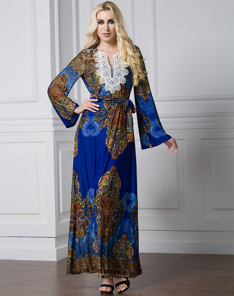printed muslim women dress islamic clothing fashionable abaya