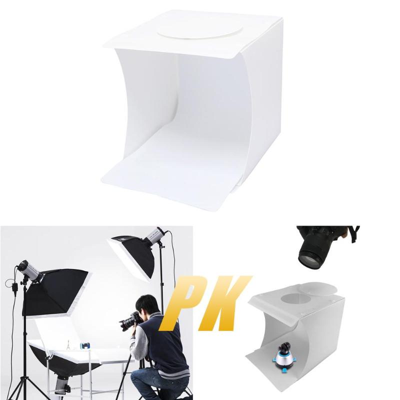 ALLOYSEED Camera Photo Studio Tabletop Shooting LED Folding Portable Photo Studio Box Booth Photography Shooting Tent Kit image