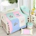 Baby bedding sets 100*120 cm 100% do bebê do algodão 7 peças bedding define bumper + folha qualidade whole sale hot new bom preço 2017 2016