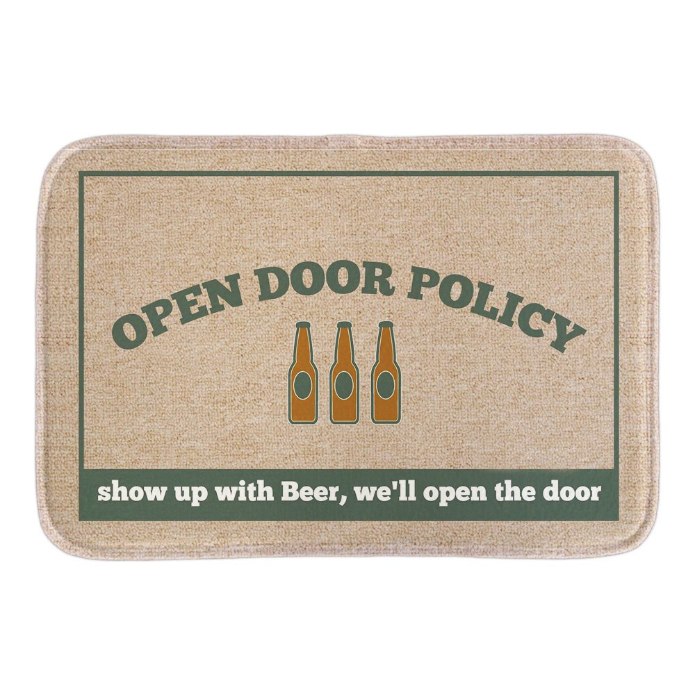 Funny Doormat Open Policy Wine Printed Soft Lightness Home Decorative Door Mats Bathroom Rug Floor Mats