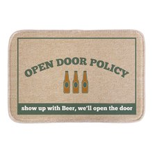 Funny Doormat Open Policy Wine Printed Soft Lightness Home Decorative Door Mats Bathroom Rug Floor Mats Short Plush Fabric