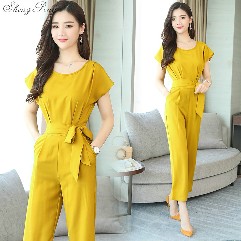 Jumpsuit female 2019 ladies elegant long business office jumpsuits for women 2019 rompers jumpsuit trousers female