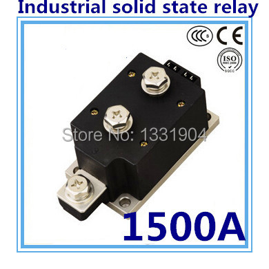 LED indicator DC to AC SSR-H1500ZF 1500A SSR relay input DC 3-32V output AC1200V industrial solid state relay normally open single phase solid state relay ssr mgr 1 d48120 120a control dc ac 24 480v