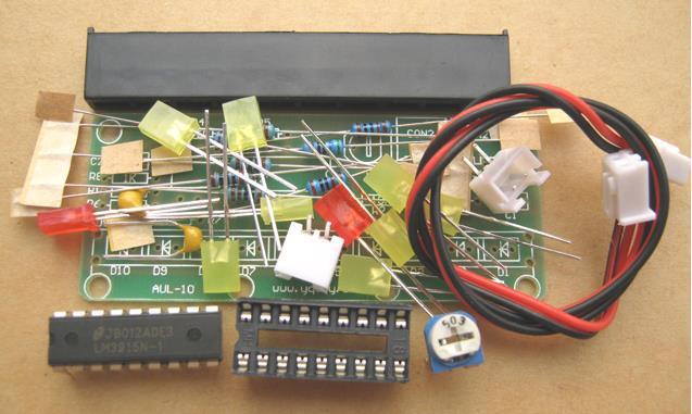 Free Shipping!  10pcs Level Indicator Electronic DIY Kit LM3915 AUL-10