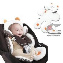 Dual-used Child Safety Seat Mat Baby Car Seat Prams Pushchair Stroller Safety Soft Cushion Pad baby stroller stroller accessorie stroller cushion cotton pad for baby prams car seat liner pad pushchair mattress padding d4