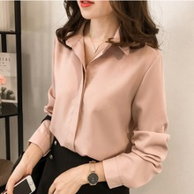 Casual Women Shirts Blouses Long Sleeve V Neck Chiffon Blouse Tops OL Office Style Blusas