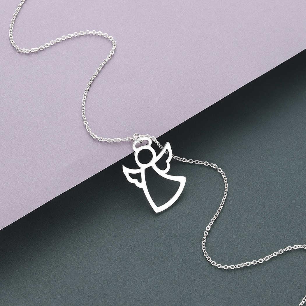 Тоторова ангел-хранитель с крыльями кулон ожерелье Женские Ювелирные изделия из нержавеющей стали Первое причастие подарок эффектное ожерелье