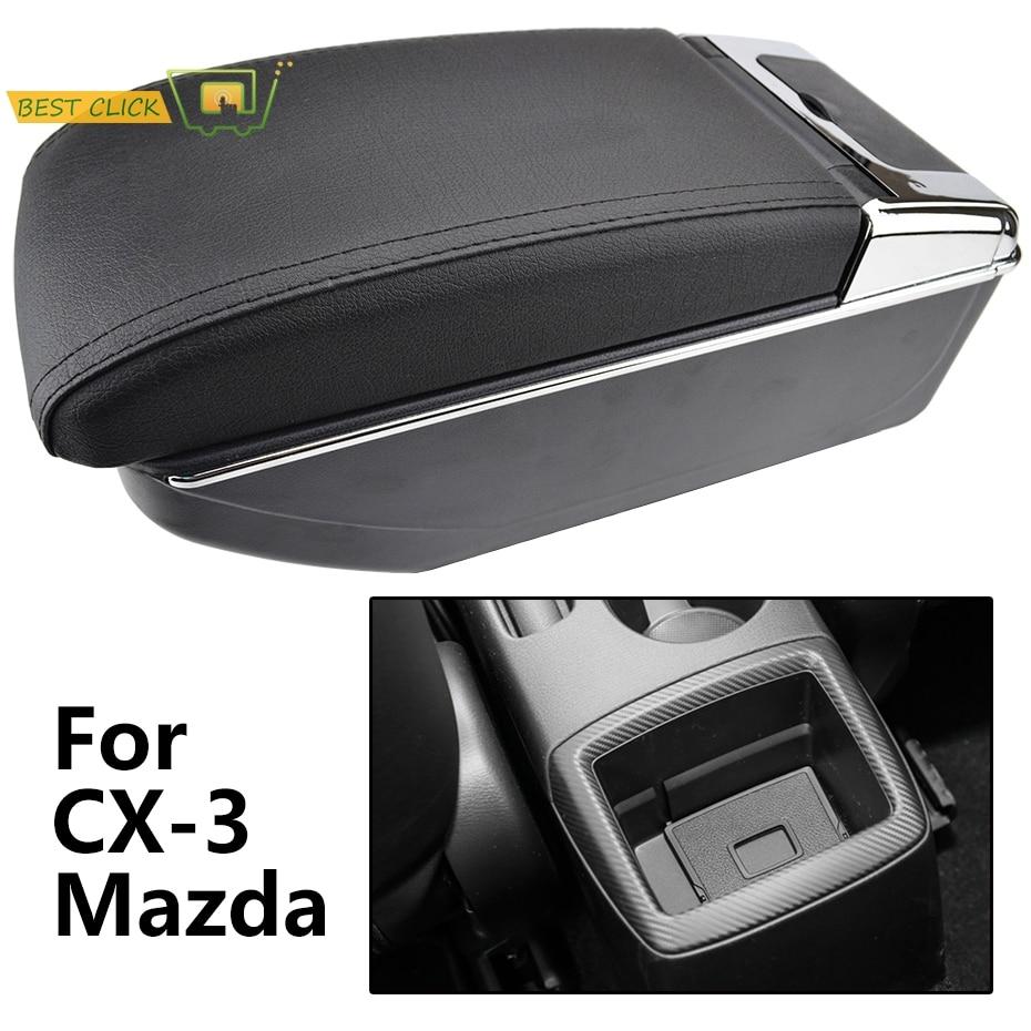Подлокотник для автомобиля Mazda, автомобильный подлокотник с двумя подлокотниками и подстаканником 2015-2018, центральный приставка из кожи 2016 ...